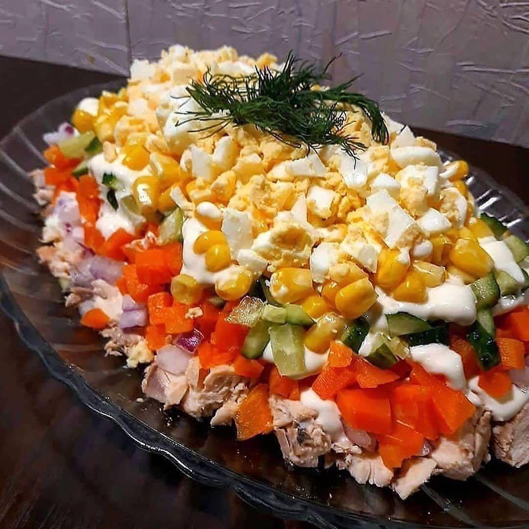 Простые салаты приготовление рецепты фото