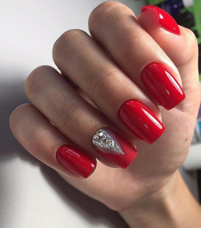 Красные ногти гель лак дизайн фото 2020