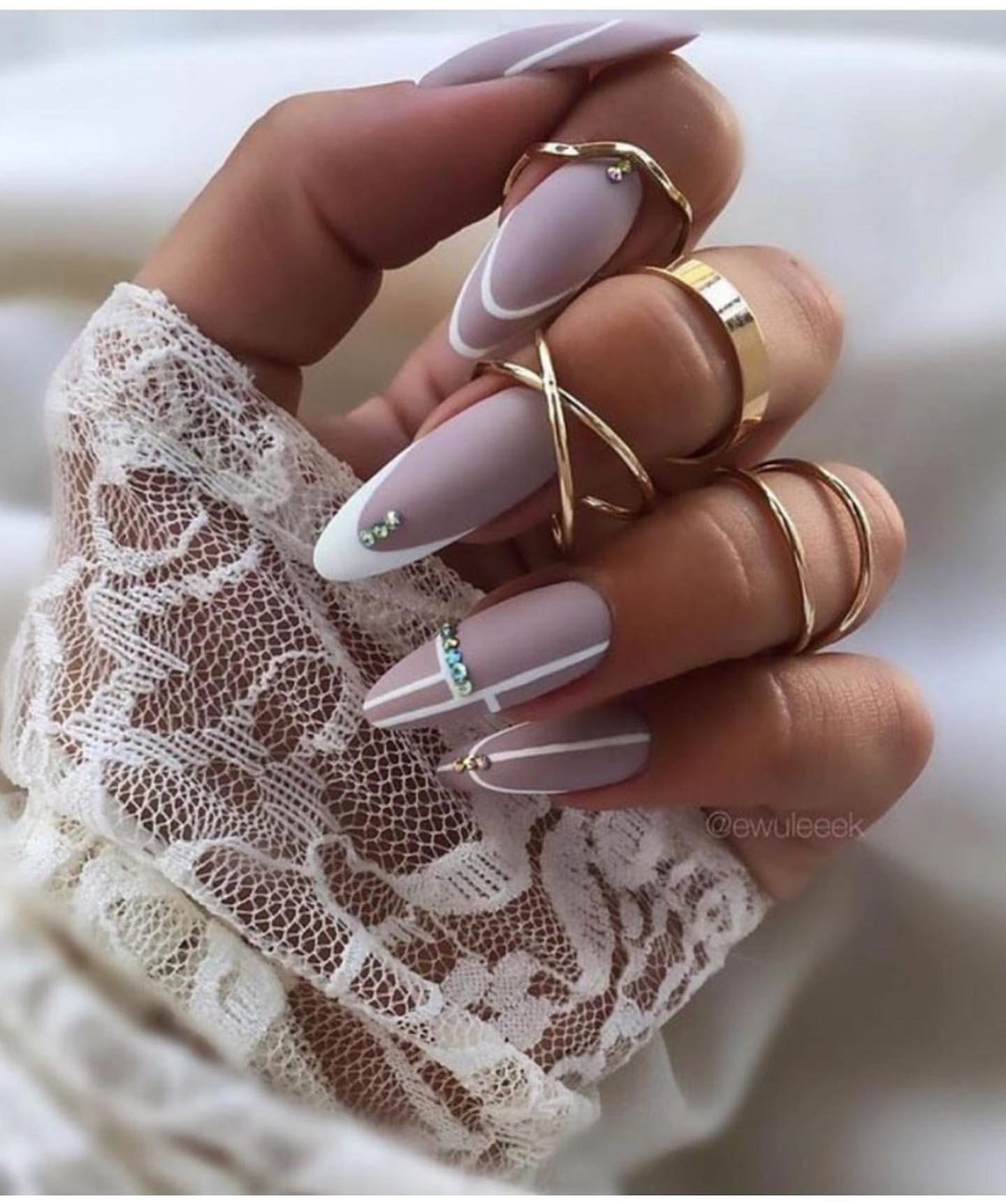 Длинные ногти френч красивые фото