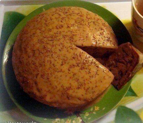 Пирог со сгущенкой в мультиварке фото рецепт