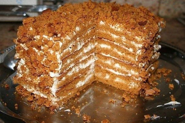 Медовый тортик с фото