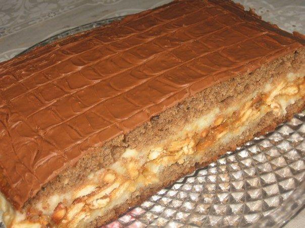 пирог сникерс рецепт с фото