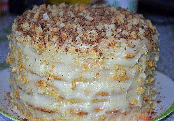 Вкусный творожный торт рецепт с фото