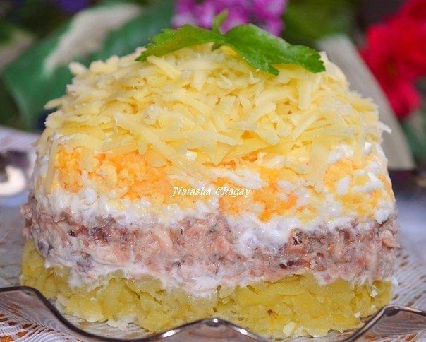 Салат из рыбной консервы рецепты с фото