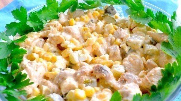 грибной простой салат
