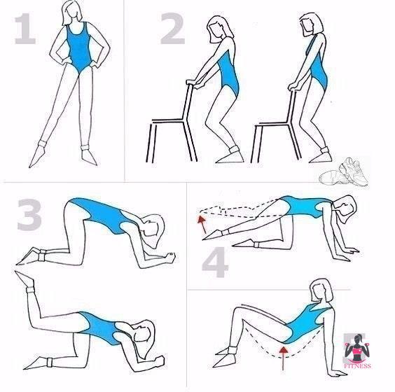Упражнения В Картинках Чтобы Похудела Попа. 10 эффективных упражнений для ягодиц и бедер: красивая форма попы и похудение в домашних условиях