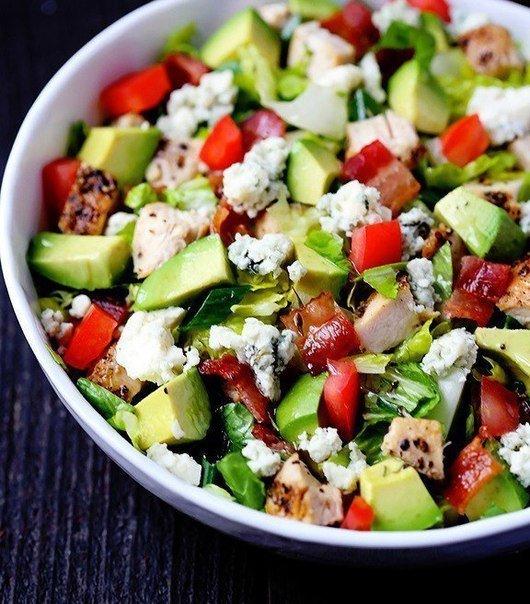 Куриный салат с брынзой рецепт