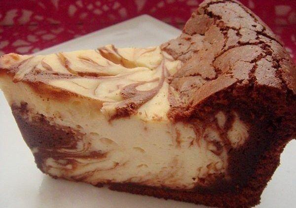 Торт творожный мраморный без выпечки