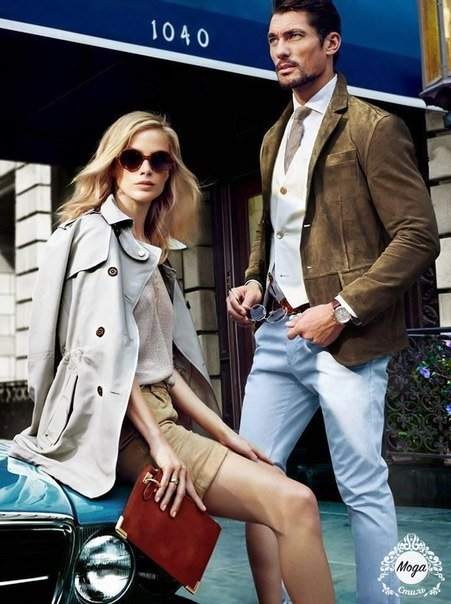 Carolyn Murphy & David Gandy for Massimo Dutti Campaign...