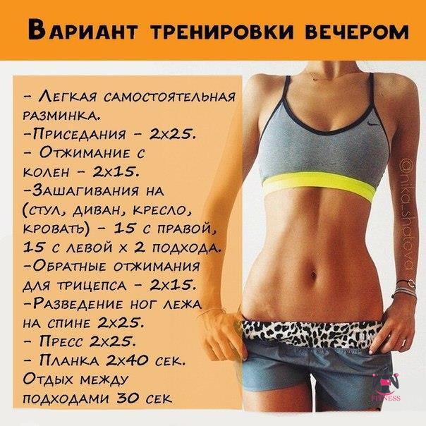 Составление комплекса упражнений для снижения веса