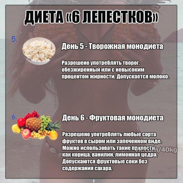 Примерное меню диета 5 лепестков