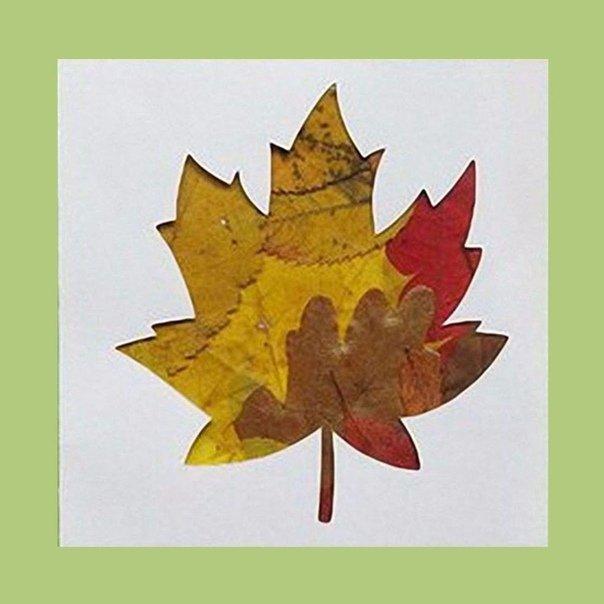 Открытки своими руками листья