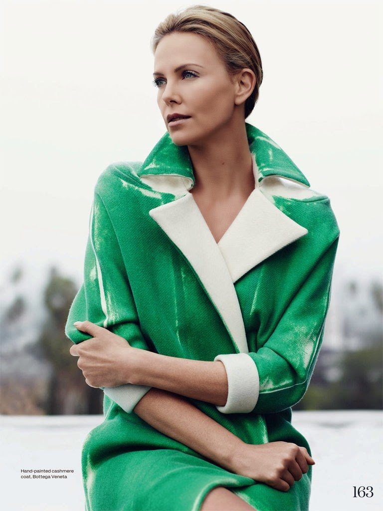Charlize Theron for ELLE UK by Bjarne Jonasson.