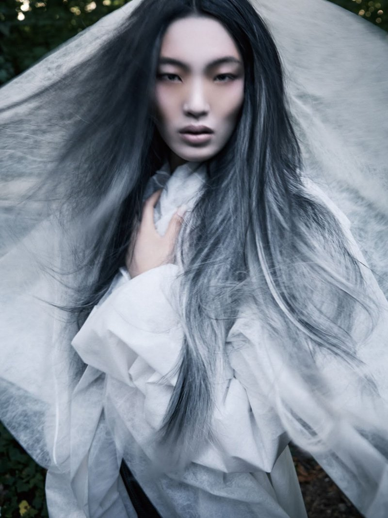 Chiharu Okunugi for Vogue China by David Dunan.