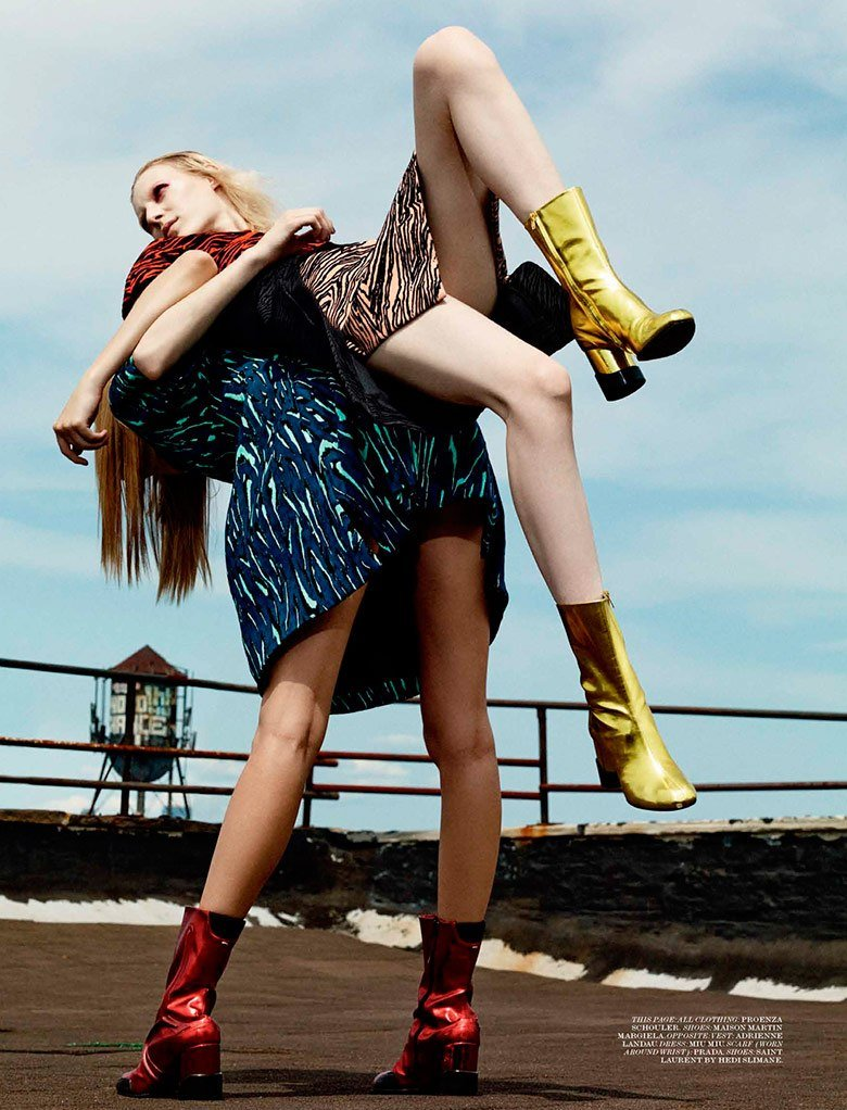 Julia Nobis and Lexi Boling by Craig Mcdean.