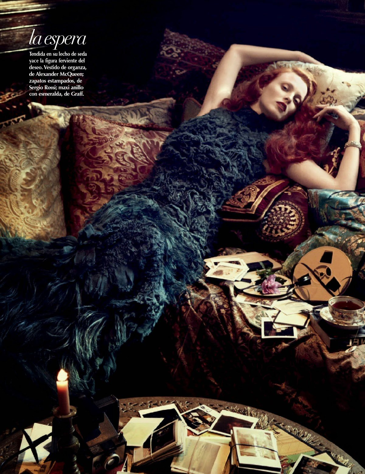Karen Elson for VOGUE Mexico by Alexi Lubomirski.