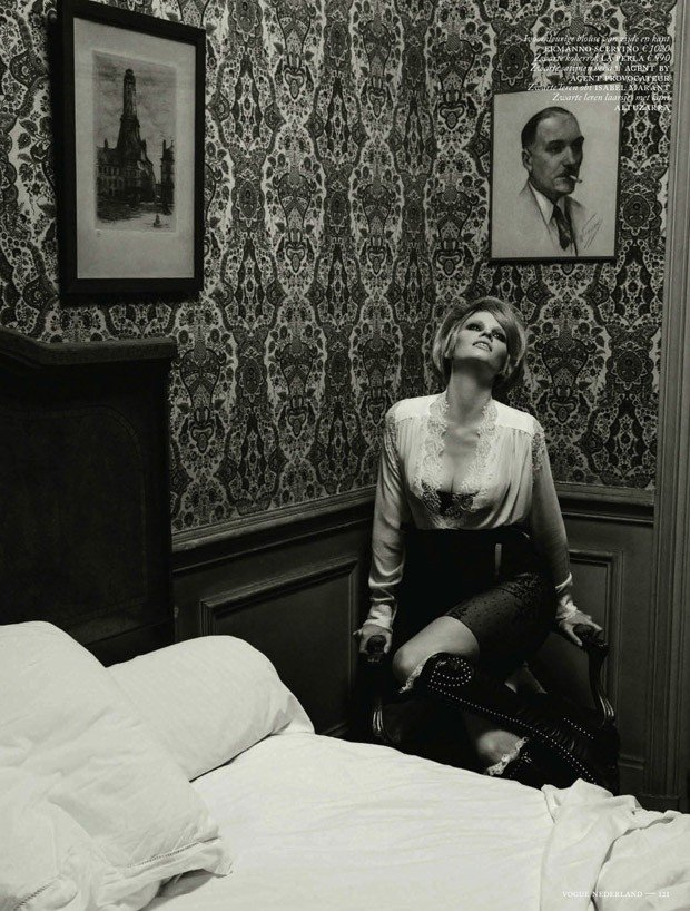Lara Stone for Vogue Nederland by Inez & Vinoodh.
