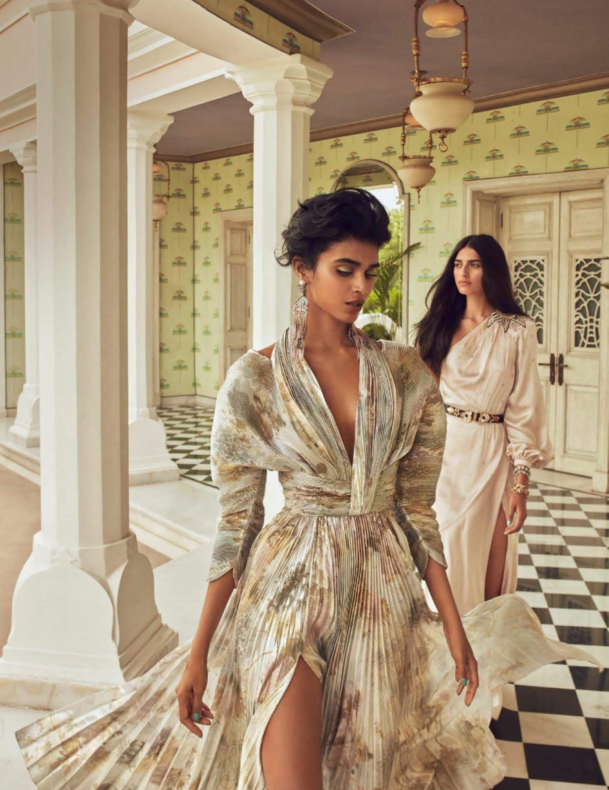 Saffron Vadher & Radhika Nair for Vogue India by Greg Swales.