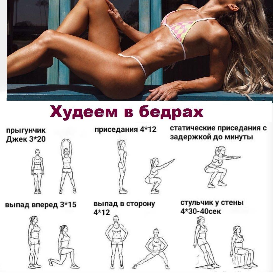 Быстрее Похудеть Бедрах. Эффективные советы и упражнения для похудения бедер и ягодиц