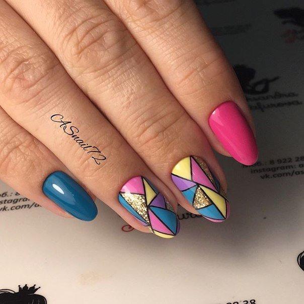Ногти дизайн на овальные ногти дизайн 2017-2018