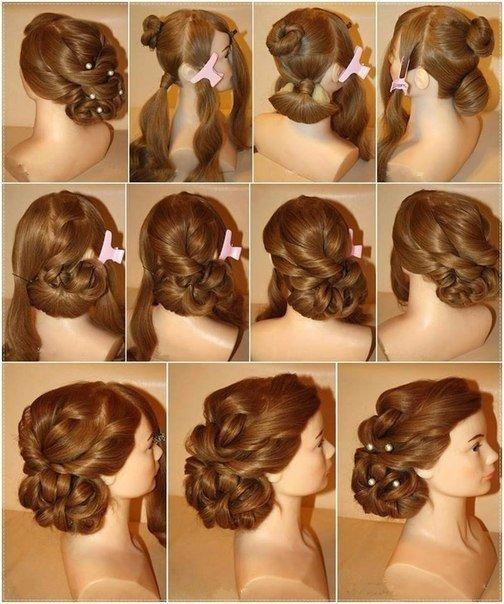 Причёски на свадьбу поэтапно