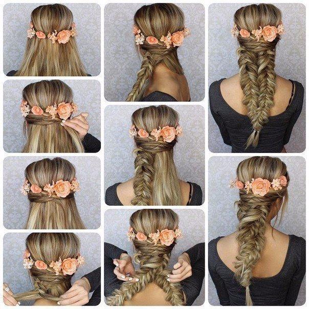 Прически на длинных волосах своими руками поэтапно