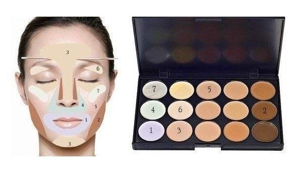 Корректировать лицо с помощью макияжа