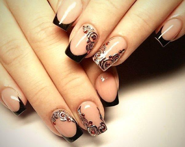 Узор на френч ногтей