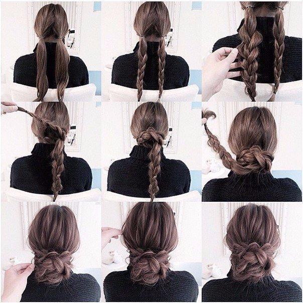 Причёски на каждый день для длинных волос своими руками фото