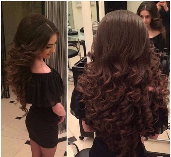 Как сделать крупные локоны на длинный волос 445