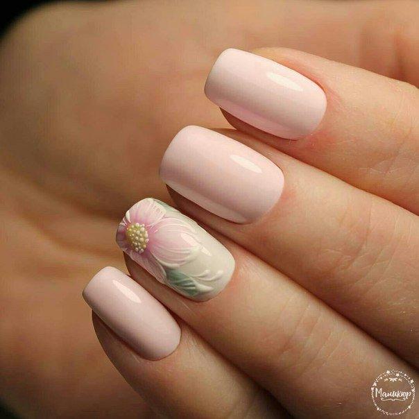 Красивые ногти нежные цвета
