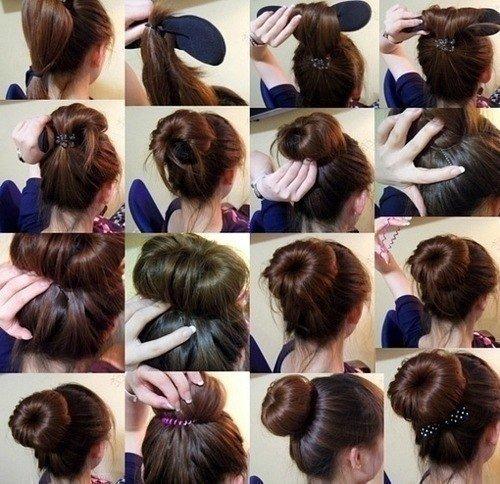 Как сделать пучок из волос инструкция