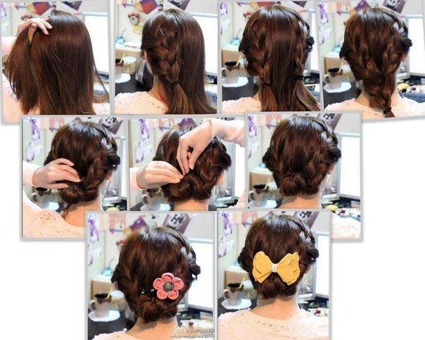 Как сделать легкую прическу на средние волосы для детей