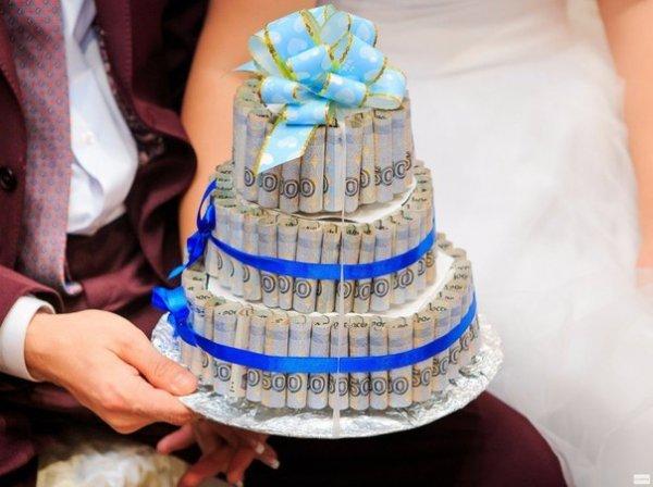Торт из денег пошагово фото