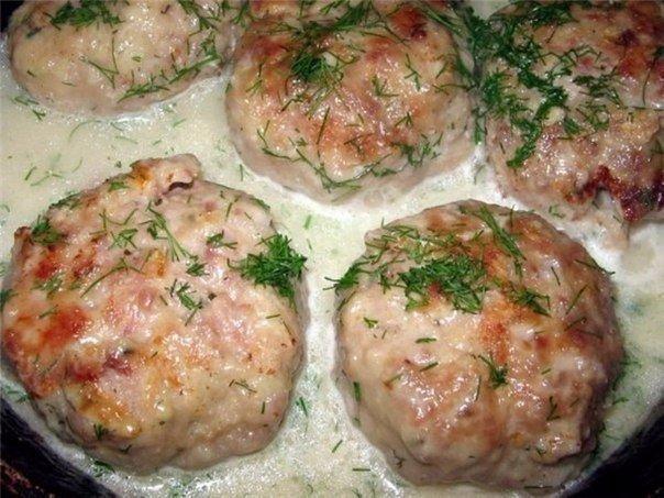 Котлеты диетические в духовке с подливкой пошаговый рецепт