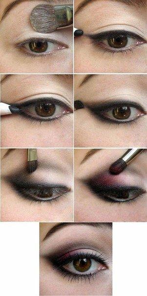 """Простой способ, как сделать вечерний макияж глаз!... """" МОДА и СТИЛЬ. Мода. Модные Тренды. Макияж. Маникюр."""