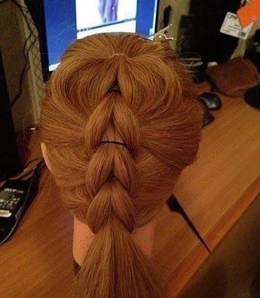 Коса с резиночками на длинные волосы пошагово