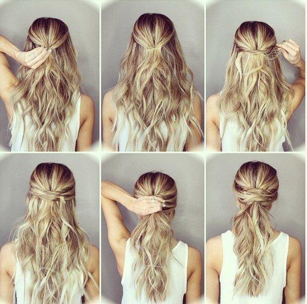 Женские прически на каждый день на длинные волосы