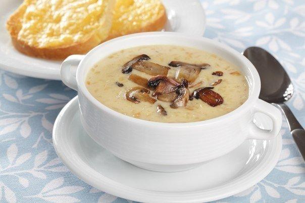 Фотоы сырный суп с грибами