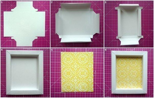 Как из картона сделать рамку для фотографий