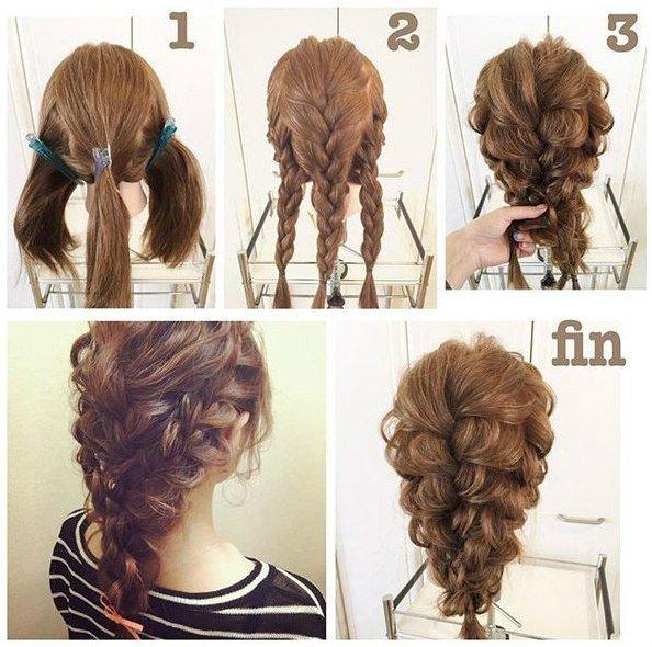 Причёски самой себе на длинные волосы