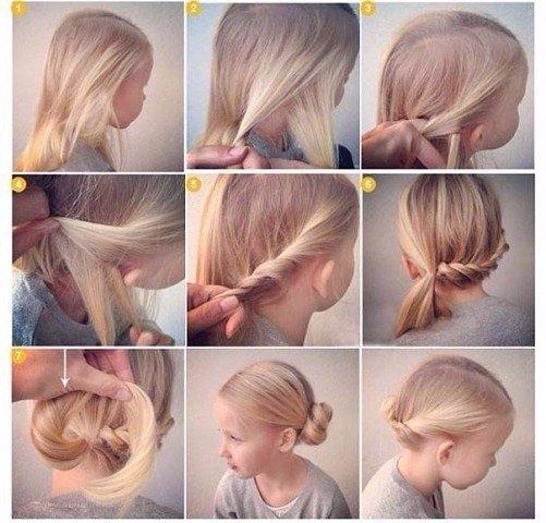 Как сделать девочки красивую причёску