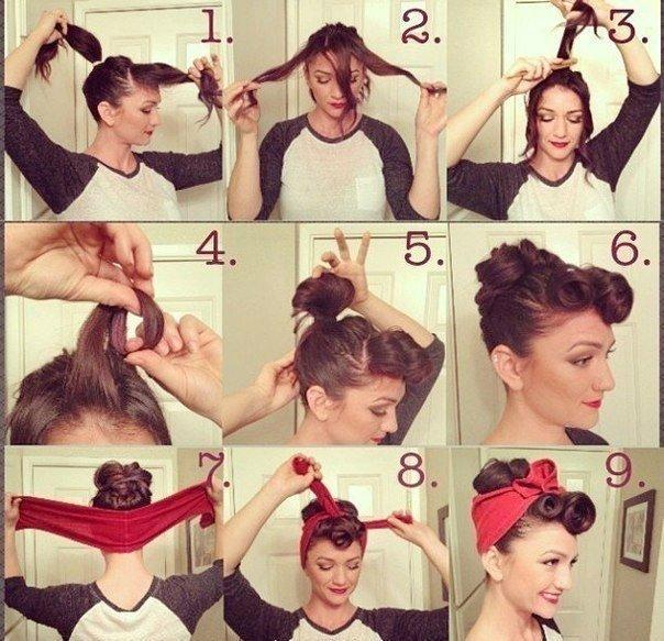 Причёски в стиле ретро как сделать