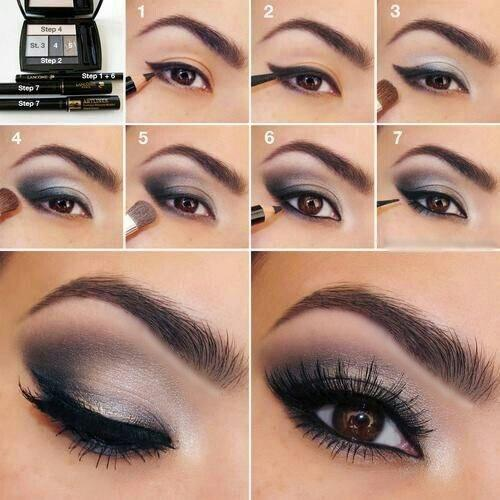Дневной макияж для карих глаз пошаговое