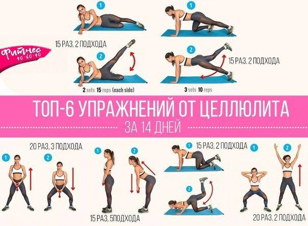 Упражнения в домашних условиях чтобы убрать целлюлит на
