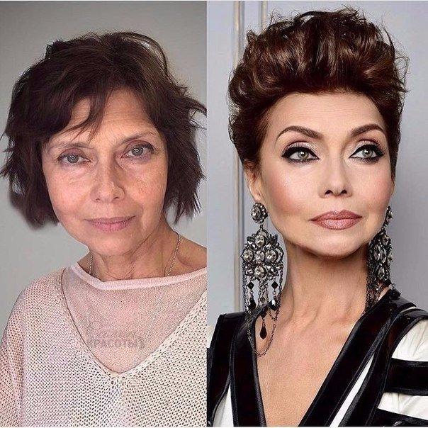 Макияж для женщин 60 лет