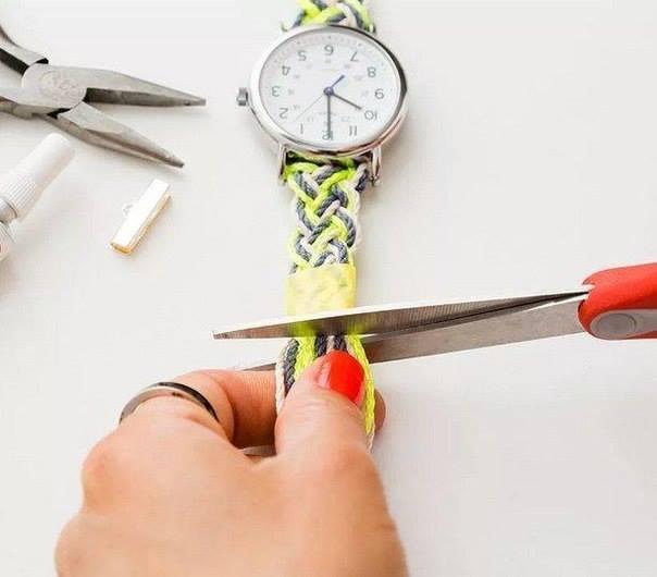 Как сплести ремешок для часов своими руками 993