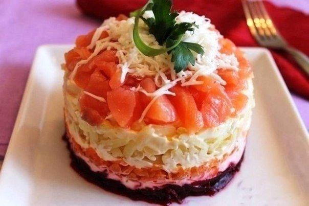 Салат из лосося рецепт пошагово