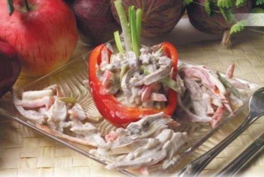 Салат мясной как в ресторане рецепт