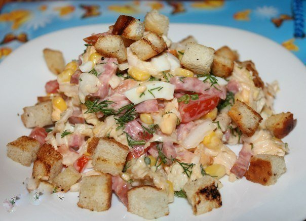 Приготовить салат быстро и вкусно к дню рождения